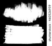 set of artistic brushstrokes on ... | Shutterstock .eps vector #460526959