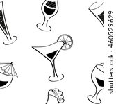 alcohol drinks and cocktails.... | Shutterstock .eps vector #460529629