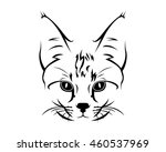 cat breed line art logo  ... | Shutterstock .eps vector #460537969