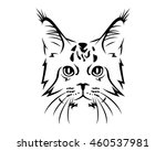 cat breed line art logo  ... | Shutterstock .eps vector #460537981