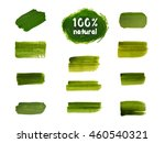 labels with vegetarian and raw... | Shutterstock .eps vector #460540321