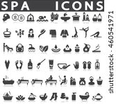spa icons set | Shutterstock .eps vector #460541971