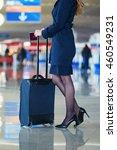 beautiful female passenger or... | Shutterstock . vector #460549231