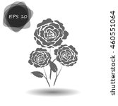 rose vector icon | Shutterstock .eps vector #460551064