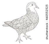 zentangle stylized pigeon for... | Shutterstock .eps vector #460552525
