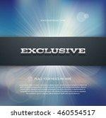 vector flyer or banner design... | Shutterstock .eps vector #460554517