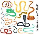 snake character wildlife nature ... | Shutterstock .eps vector #460557649