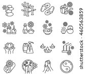 spa linear icons set. thin line ... | Shutterstock .eps vector #460563859
