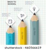 set of pencils columns of data. ... | Shutterstock .eps vector #460566619