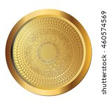 gold coin with aztec sun... | Shutterstock .eps vector #460574569