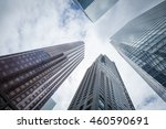 skyscrapers hacks clouds in the ... | Shutterstock . vector #460590691