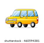 yellow car isolated. | Shutterstock .eps vector #460594381