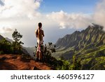 young male topless tourist in... | Shutterstock . vector #460596127