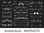 text divider  grunge element...   Shutterstock .eps vector #460596274