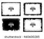 grunge frame texture set  ... | Shutterstock .eps vector #460600285