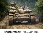 russian tank rides on a forest... | Shutterstock . vector #460604401