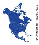 map of north america | Shutterstock .eps vector #460607611