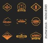 set of vintage logo and badge.... | Shutterstock .eps vector #460618585