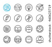 education icons with white... | Shutterstock .eps vector #460625719