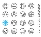 seo and development icons with... | Shutterstock .eps vector #460630105