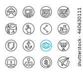 seo and internet icons with... | Shutterstock .eps vector #460630111