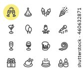 party and celebration icons... | Shutterstock .eps vector #460632871