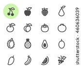 fruits icons with white... | Shutterstock .eps vector #460636039