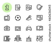 hobbies icons with white... | Shutterstock .eps vector #460636045