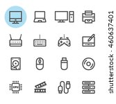 computer icons with white... | Shutterstock .eps vector #460637401