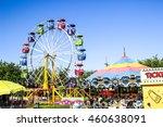 Ferris Wheel At Local County...