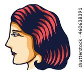 vector illustration of woman... | Shutterstock .eps vector #460638391