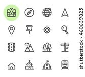 map and location icons with... | Shutterstock .eps vector #460639825