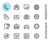 mobile phone icons with white... | Shutterstock .eps vector #460641454