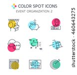 line icons of events planning... | Shutterstock .eps vector #460643275
