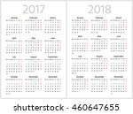 simple calendar for 2017 and... | Shutterstock .eps vector #460647655