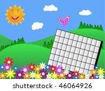 vector illustration of a summer ... | Shutterstock .eps vector #46064926