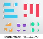 label origami blank colourful... | Shutterstock .eps vector #460662397