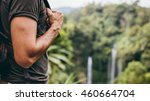 close up shot of young man hand ... | Shutterstock . vector #460664704