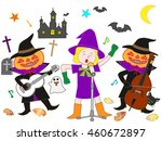 people who disguise itself by... | Shutterstock .eps vector #460672897