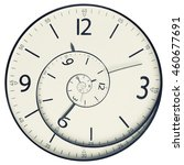 twisted clock face close up....   Shutterstock . vector #460677691