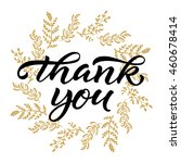 thank you card. thanksgiving... | Shutterstock .eps vector #460678414