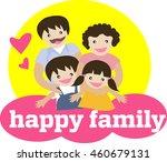 family portrait. happy family... | Shutterstock .eps vector #460679131