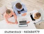 high angle view of financial...   Shutterstock . vector #460686979