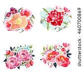 flower set | Shutterstock .eps vector #460700869