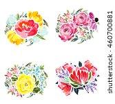 flower set | Shutterstock .eps vector #460700881