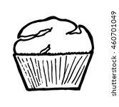 muffin on white background.... | Shutterstock . vector #460701049