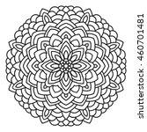 symmetrical circular pattern... | Shutterstock . vector #460701481