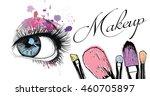 vector hand drawn illustration... | Shutterstock .eps vector #460705897