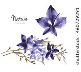 watercolor flower background....   Shutterstock . vector #460729291