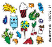 colorful fun set of quirky... | Shutterstock .eps vector #460731439